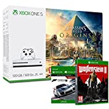 Pack Xbox One S 500 Go Assassin's Creed Origins + Forza Motorsport 7 (digitale) + Wolfenstein II : The New Colossus