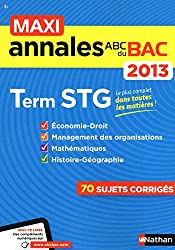 MAXI ANNALES BAC 2013 TERM STG