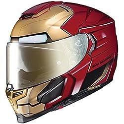 Casco Moto Hjc Marvel Rpha 70 Ironman Homecoming Rojo-Oro (Xl , Rojo)