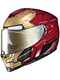 Hjc Marvel Motorradhelm Rpha 70 Ironman Homecoming Rot-Gold (X-Large , Rot)