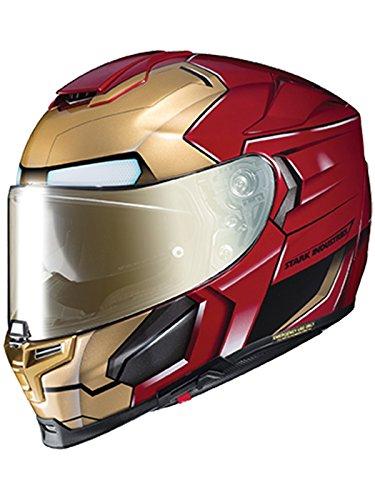 Casco Moto Hjc Marvel Rpha 70 Ironman Homecoming Rojo-Oro (Xxl , Rojo)