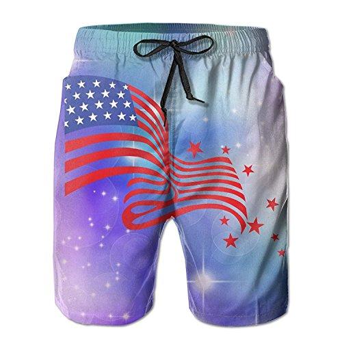 khgkhgfkgfk Beach Shorts Mens 4th of July USA National Flag and Stars Summer Quick-Drying Swim Trunks Cargo Shorts XX-Large Lace Velvet Romper