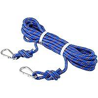 Selighting Cuerda de Seguridad Cuerda de Escalada Profesional de Alta Resistencia para Escalar al Aire Libre y en Interiore Perfessional Rappelling Auxiliar, 10 mm de Diámetro (20m, Azul)