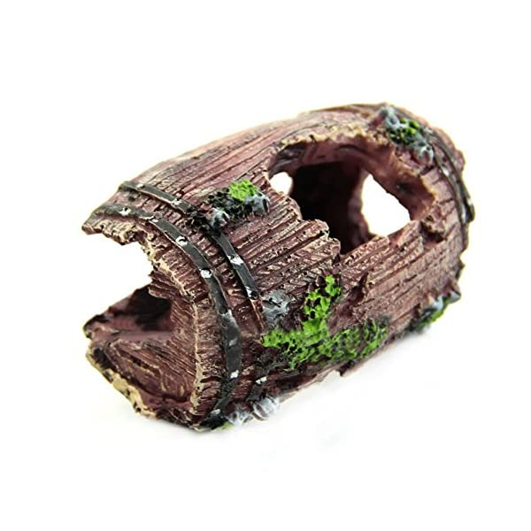 EDTara Aquarium Fish Tank Artificial Resin Barrel Caves Ornament Furnishing Landscaping Decoration AS Shown