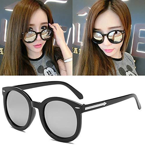 Rund Gesicht Sonnenbrille Flut koreanische elegante Damen polarisieren Gläser polarisierte Sonnenbrille personalisiertem weißes Quecksilber (Stofftaschen), schwarz umrandete weißes Quecksilber (Rauss