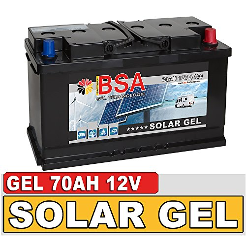 BSA Solarbatterie Gel Batterie 70Ah 12V Blei Gel Akku Boot Wohnmobil Wohnwagen Schiff Marine Batterie Gel Marine Batterie