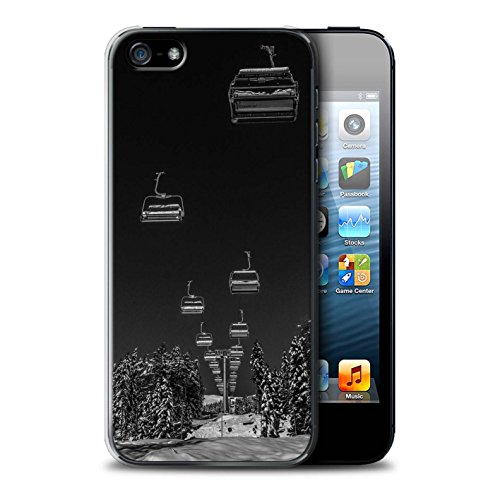 Stuff4® Hülle/Case für Apple iPhone SE/Ski Aufzug Muster/Skifahren/Snowboard Kollektion - Snowboard Mp3