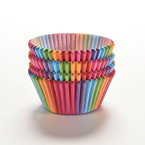 Fluted Dessert Cup (Yosoo Backformen für Cup Cake Muffin, Regenbogen Standard Cupcake Cup Cake Muffin Baking Cases Cupcake Backförmchen, 100Stück)
