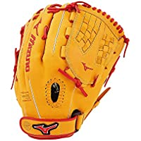 Mizuno MVP Prime SE Fastpitch GMVP1250PSEF Infield/Outfield/Pitcher Model Gloves, Cork/Red GMVP1250PSEF-Guantes para Campo/Exterior/Jarra, Color Rojo, CORCO-RO, 32 cm