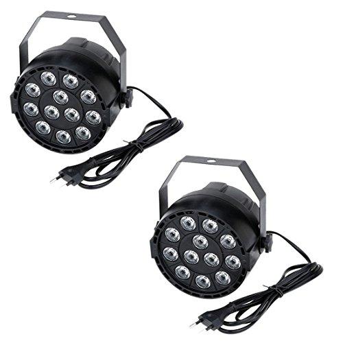 Disco Licht - TOOGOO(R)2x15W DMX-512 RGBW LED DJ Lichteffekt Disco Beleuchtung 8 Kanal Wechselstrom 100-240V