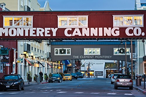 The Poster Corp Panoramic Images - Cannery Row Area at Dawn Monterey California USA Photo Print (68,58 x 22,86 cm)