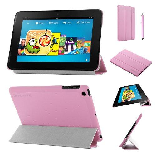 Stuff4®PU Leder Slim zusammenklappbar Multi Position Fall mit Tri Fold Stehen für Kindle Fire HD 8.9-Pink - Fall Kindle 9 Hd Fire
