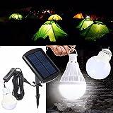 MASUNN Portable Pannello Solare Potere Sensore LED Lampadina Outdoor Camp Tenda da Pesca Lampada