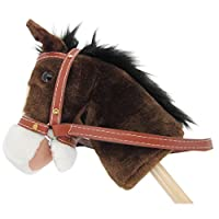 "Sweety Toys 5055 hobby horse "" My little Pony"" chocolate, with sounds"