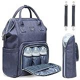 Baby Wickeltasche Wickelrucksack mit Kinderwagenhaken Multifunktional Oxford Große Kapazität Babytasche Reiserucksack für Unterwegs mit vielen Fächern (Grau-1)
