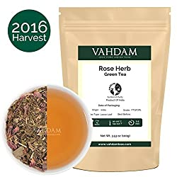 Herbal Tea Leaves from the Himalayas,21 Ayurvedic Herbs from India blended with Premium Loose Leaf Green Tea,100% Natural Detox Tea, Healing, Energizing & Refreshing - Healthy & Delicious, 50 Cups