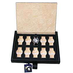 10Watch Display Travel Box for 10Watches Eco Leather Pouch