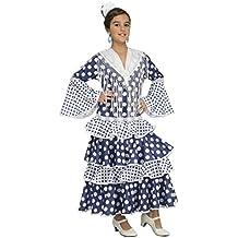 My Other Me - Disfraz de flamenca soleá para niña, 5-6 años, color azul (Viving Costumes 204380)