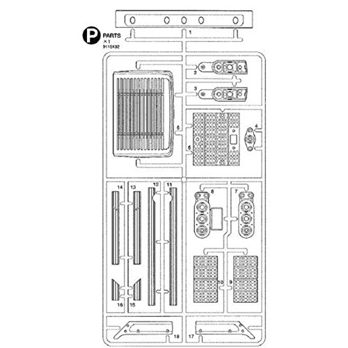 Tamiya 309115132 - P-Teile 56314, Modellbauzubehör