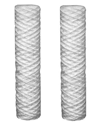 2 x 5 Mikron Sediment Wasserfilter Patronen passend für alle 10