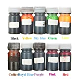 #9: Rishil World 10 Colors Epoxy UV Resin Dye Colorant Resin Liquid Pigment Mix Color DIY Art Crafts