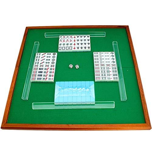 Melamin-klapptisch (LIULAOHAN Mahjong Set, Home Travel Tragbare 144 Mini Tragbare Melamin Mahjong Mit Klapptisch Und Lineal Für Familientreffen/Party Game (20 * 14 * 11mm) (Color : Blue))