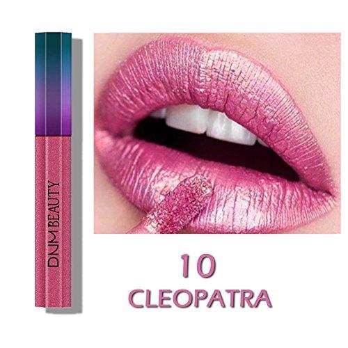 Farben Moisture Rich Lipstick (Allbesta Flüssige Lippenstift Metallic Farben Matt Lipgloss Lippenfarbe Kussecht Wasserdichte Langlebige)