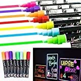 #5: Tradico® TradicoBrand New 8pcs/1set Dual Nib 6mm Neon Liquid Chalk Pen Marker Blackboard Glass Window Menu