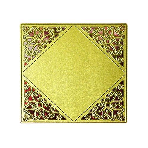 enipate Flower quadratisch Metall Formen für Scrapbook Album Einladung Home Dekoration Prägung Schablonen Schnitt stirbt (Fall Out Boy Album Vinyl)