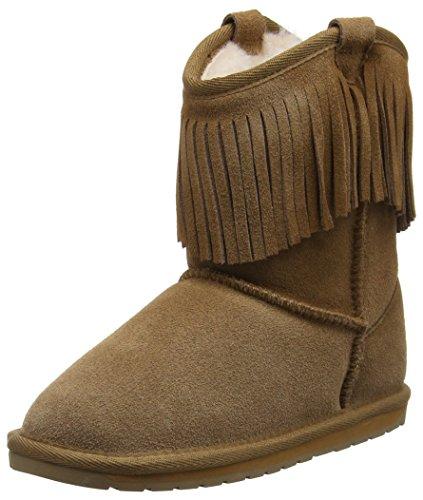 EMU Unisex-Kinder Glaziers Mokassin Boots, Braun (Chestnut), 36 EU Scallop Edge Top