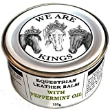 Dirtbusters We Are Kings peppermint oil equestrian leather balm cleaner and deep conditioner 150g for saddles tack boots