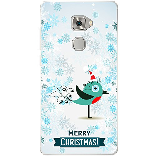 hneeflocken Tiere Hard Case für Handys, plastik, Red Breast Robin In Santa Hat, Huawei Mate S ()