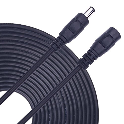 2 x 5m/16.4ft DC-Netzteil-Verlängerungskabel,5.5mm x 2.1mm DC Verlängerung Verbinder Draht für LED Streifen-CCTV-Überwachungskameras-Auto,Monitore-Ip Kamera DVR,AHD Überwachungskamera Systeme (Vga-hd-sdi)