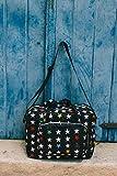 My Bag's Bolso de Maternidad de Tejido de Nylon Acoplable en Carrito, Estampado de Estrellas, Color Negro, 39x29x15cm