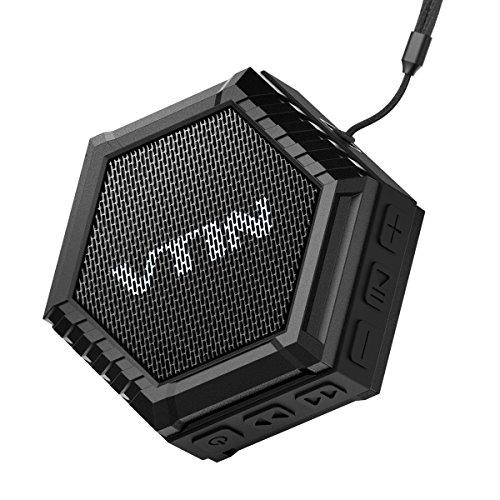 VTIN Altoparlante Bluetooth Esterno 5W Portatile con Basso Impermeabile Esterna, Speaker Suono Stereo Waterproof Dustproof Crashproof con 5W Driver, per iPhone 7/6S/6S Plus/6/5S/SE/5, Galaxy S7/S6/S6 Edge/S5/S4/Note 7/6/5/4, iPad, Tablet, Huawei, Lumia, LG, Sony, Vodafone, HTC, Motorola, Smartphone ecc, Nero