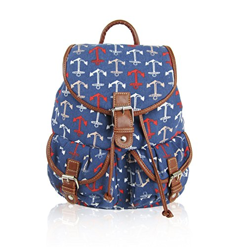 Craze London, Borsa a zainetto donna Dark Blue