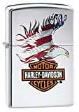 Zippo - Harley Davidson Eagle Flag chrome briquet collection 28082 - Made in USA