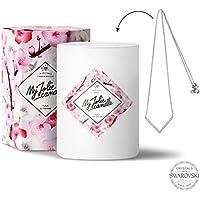 My Jolie candle - Bougie-Bijou Fleur de cerisier - Collier