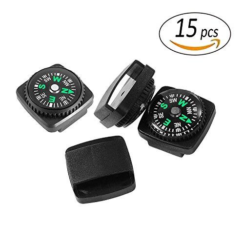 Mini Armband (REKYO 15St Armband Kompass Mini-Kompass für Paracord Armband Flüssigkeit gefüllten Kompass für Notfallkoffer Survival Armband Paracord Armbänder und Schlüsselanhänger)