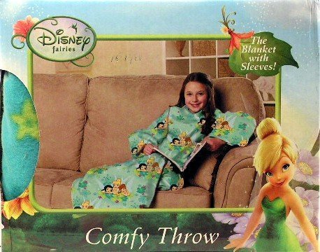Disney Fairies Flower Party Blanket/SLEEVES Comfy Throw YOUTH by northwest
