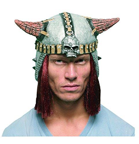 El Carnaval Casco Vikingo Melena Goma Adulto