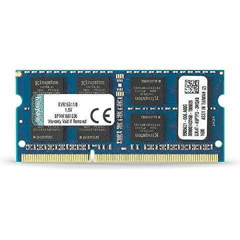 Kingston KVR16S11/8 - Memoria RAM de 8 GB (1600 MHz DDR3 Non-ECC CL11 SODIMM 204-pin 1.5 V)