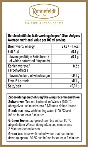 "Ronnefeldt Earl Grey ""joy of tea"" - Schwarztee mit Bergamottegeschmack, 15 Teebeutel, 34,5 g"