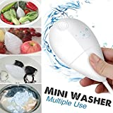 Mini Portable Ultrasonic Vibration Washing Machine, VMAE Smart USB Disinfectant Laundry Cleaning Machine for Clothes, Fruit, Jewelry, Glasses, Vegetables - White