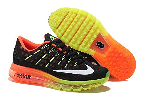 Nike AirMax 2016 Black Orange Green Running Imported Sport Shoes  available at amazon for Rs.3490