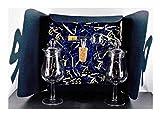 H-BO whisky-chocolate Geschenk 2 Nosing Gläser Form Signatory mit Deckel und Flaschenportionierer aus Echtglas im Geschenk Karton