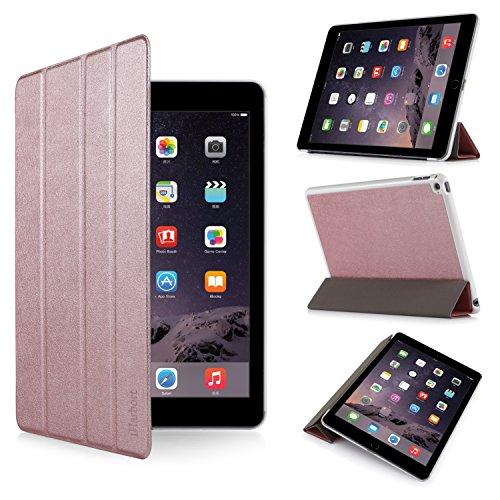 iHarbort® iPad Air 2 Hülle - Premium PU Leder Tasche Hülle Etui Schutzhülle Ständer Smart Cover für iPad Air 2, mit Schlaf / Wach-up-Funktion (iPad Air 2, Roségold) Schweißer Kamera