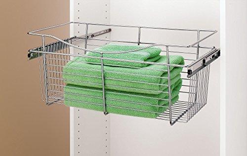 Rev-A-Shelf-cb-181211cr-r-Closet Korb sowie einen, Metall, Chrome, 11 in. -