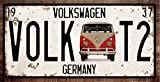 RETRO METAL WALL SIGN TIN VW VOLKSWAGEN CAMPER VAN for sale  Delivered anywhere in UK