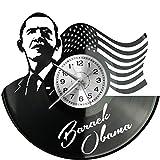 WoD Barak Obama Orologio da Parete in Vinile, con Disco in Vinile, Stile retrò, Grande Orologio, Decorazione per la casa, Ottimo Regalo
